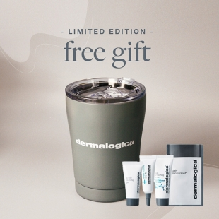 Free Gift: Dermalogica Reusable Coffee Cup plus Trial Set